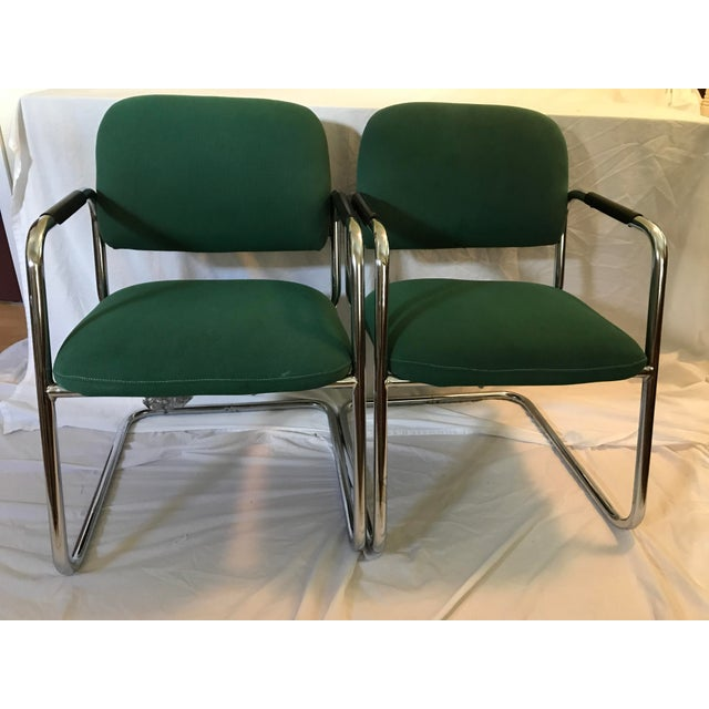 Cramer Cantilever Armchairs - A Pair - Image 2 of 8