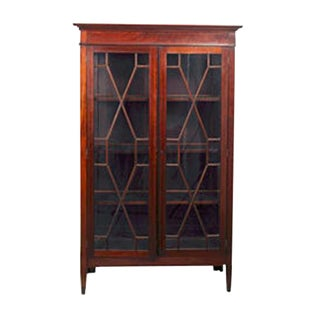 George III Mahogany Vitrine Armoire For Sale