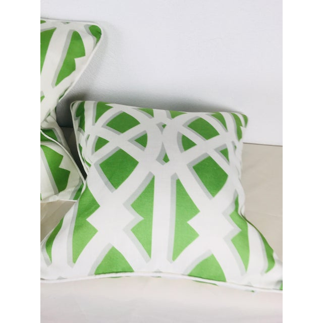 Cotton Modern Cotton Geometric Pillows – a Pair For Sale - Image 7 of 10