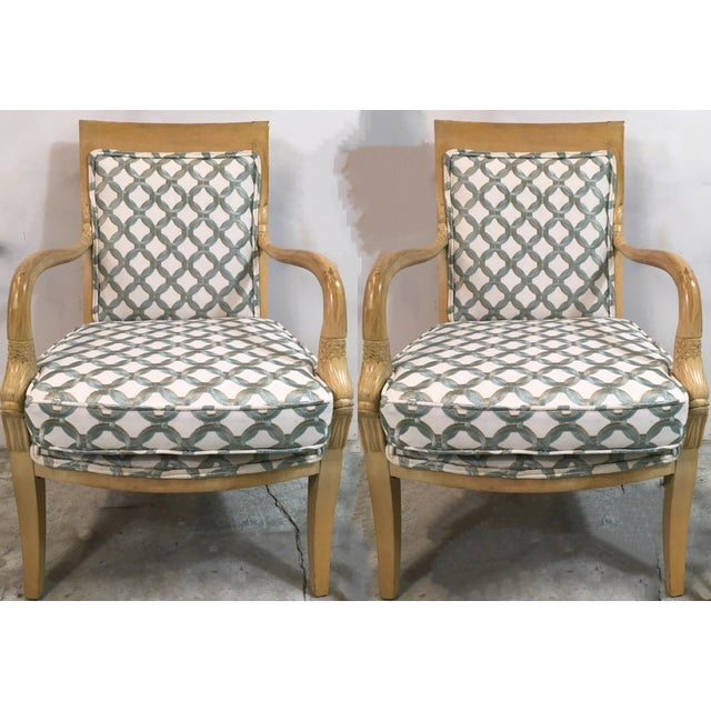 Pair of Carved Koi Fish Arm Chairs For Sale In Atlanta - Image 6 of 6