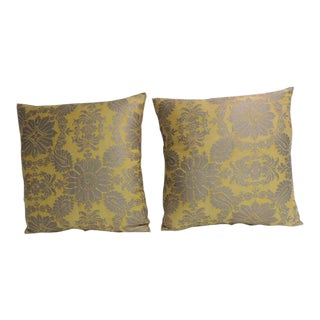 Pair of Vintage Floral Fortuny Decorative Pillows