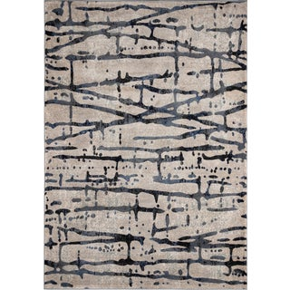 "Momeni Logan Abella Grey 7'10"" X 9'10"" Area Rug For Sale"