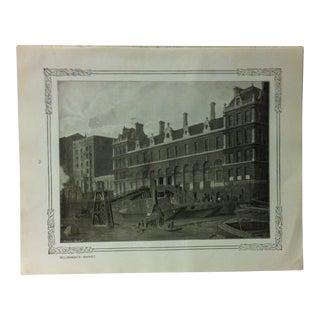 """1906 """"Billingsgate Market"""" Famous View of London Print For Sale"""