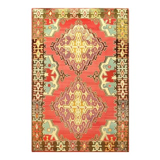 "Pasargad Turkish Kilim Wool Rug - 6′9"" × 10′1"" For Sale"