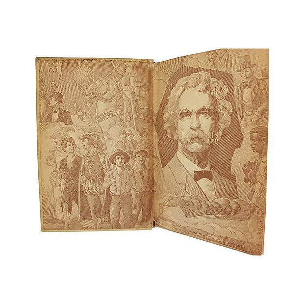 Leather Bound Works of Mark Twain - Set of 20 For Sale In Philadelphia - Image 6 of 6