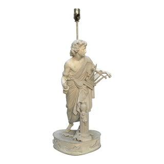 Vintage Classical Figure Sculptural Table Lamp For Sale