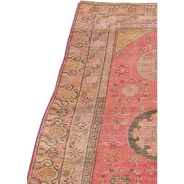 Primitive C. 1900s Antique Handmade Samarkand Rug - 5′8″ × 12′ For Sale - Image 3 of 6
