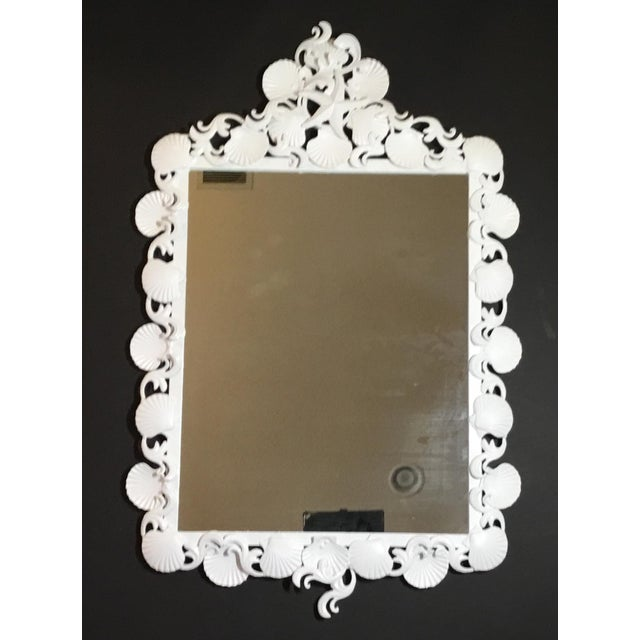 Organic Modern Iron Sea Shell Mirror For Sale - Image 4 of 13