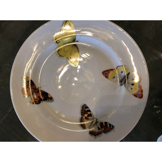 "S/7 Mid Century Modern L. Bernardaud Porcelain ""Butterfly"" Pattern Small Plates - Image 6 of 8"