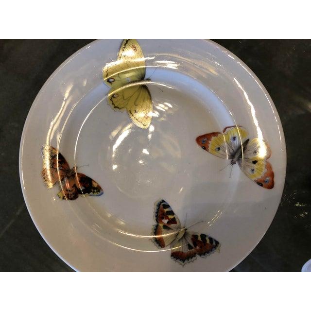 "S/7 Mid Century Modern L. Bernardaud Porcelain ""Butterfly"" Pattern Small Plates - Image 6 of 8"