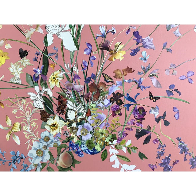 Contemporary Meadow Floral Collage by Marcy Cook, Framed For Sale - Image 3 of 9
