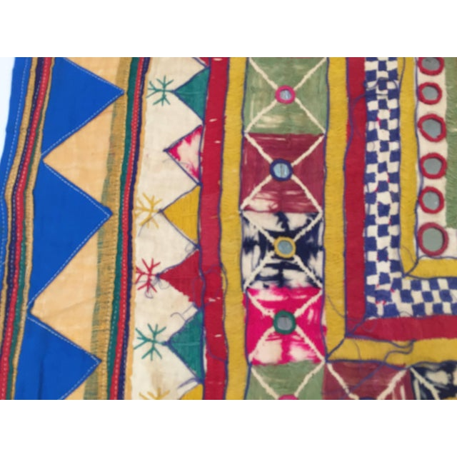 Blue Late 19th Century Embroidered Ceremonial Chakla Cloth Textile For Sale - Image 8 of 11