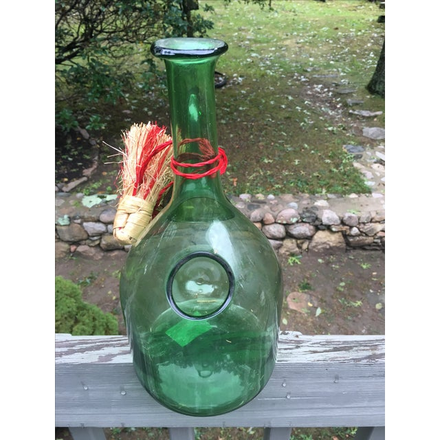 Italian Green Glass Wine Carafe Chiller - Image 5 of 6