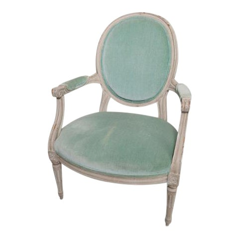 Mid 20th Century French Provincial Armchair For Sale
