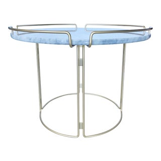 Bijou End Table in Marble and Matte Gold by Roche Bobois For Sale