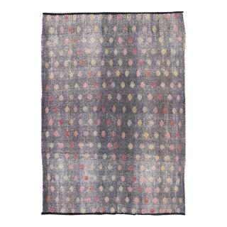 Keivan Woven Arts,TU-Emd-3426, Vintage Turkish Kilim Flat Weave Rug- 6′6″ × 9′3″ For Sale