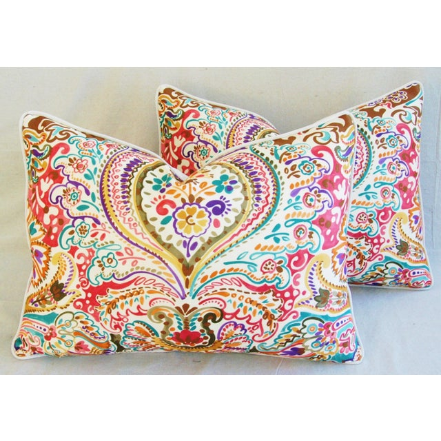 Custom Colorful Cotton & Linen Pillows - Pair - Image 7 of 11