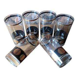 Vintage Highball Cocktail Glasses - Set of 6