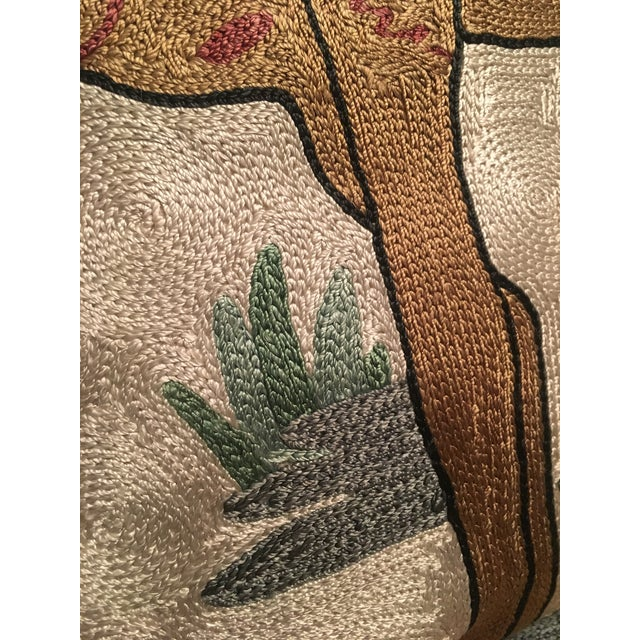 Silk Embroidered Ari Pillows - A Pair - Image 11 of 11