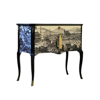 Gustavian Commode With 17th Century Print For Sale