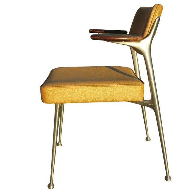 Aluminum Gazelle Armchairs- Set of 4 - Image 5 of 8