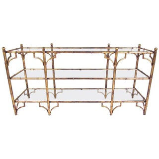 Faux Bamboo Gilt Console Table