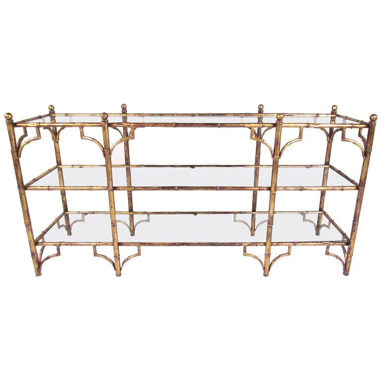 High Quality Faux Bamboo Gilt Console Table Pictures