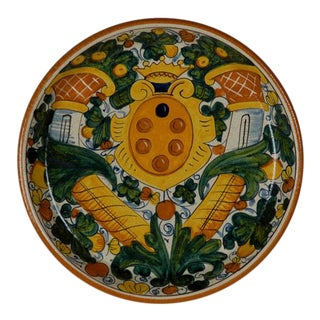 Italian Hand Painted Platter For Sale