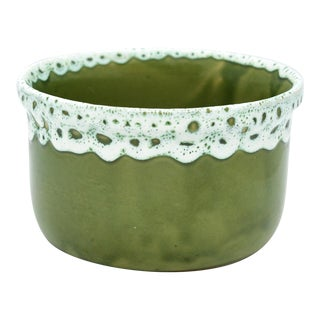 Lava Style Green Ceramic Pot For Sale