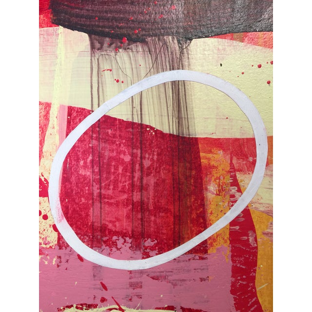 """Abstract Denmark Contemporary Red Abstract """"Flora Fuega 2"""" For Sale - Image 3 of 6"""