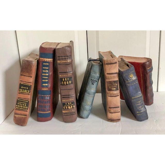 1940s Papier Mache Books, Set of 7 For Sale - Image 5 of 5