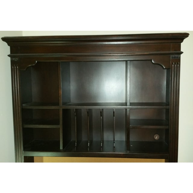 Solid Wood Dark Brown Desk with Hutch by Pulaski - Image 2 of 4