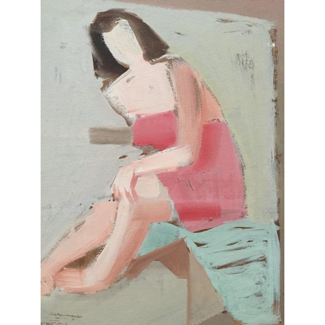 Abstract Mid Century Bay Area Figurative Painting For Sale - Image 3 of 4