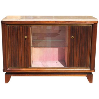 1940s French Art Deco Maurice Rinck Macassar Ebony Sideboard For Sale