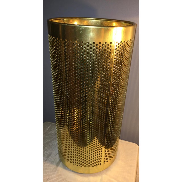 Late 20th Century 20th Century Italian Brass Wastebasket or Trash Can For Sale - Image 5 of 7