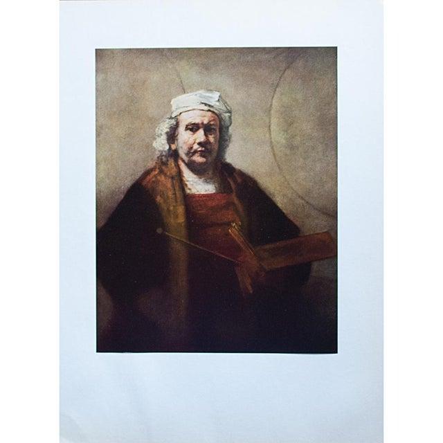 "1950s Rembrandt, ""Self-Portrait"" Vintage Photogravure For Sale In Dallas - Image 6 of 8"