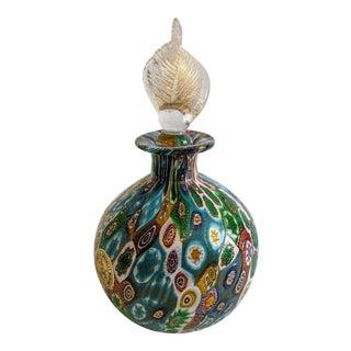 Murano Glass Millifiore Perfume Bottle For Sale
