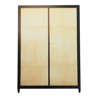 1990s Peter Marino Wardrobe in Stained Oak and Vellum For Sale