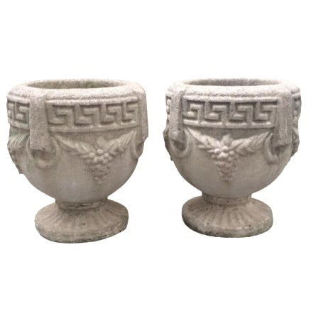 1940s Grecian Cement Planters - A Pair - Image 1 of 7