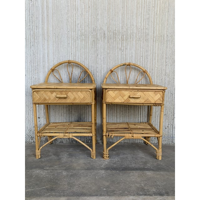 Mid-Century Modern Bamboo and Bentwood Headboard For Sale - Image 10 of 11