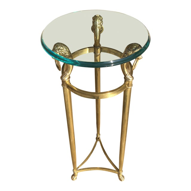 La Barge Brass Side Table, 1950s For Sale