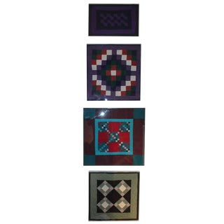 Collection of Four Rare Pennsylvania Amish Doll Quilts For Sale