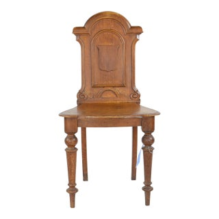 19th C. Vintage Matthews and Co. English Gothic Style Side Chair For Sale