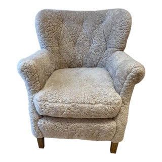 Modern Lee Furniture Shearling Chair For Sale