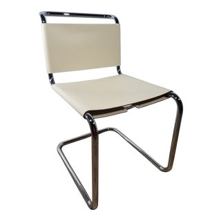 1970s Vintage Spoleto Chrome and Laced Leather Sling Chair For Sale