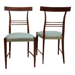 Pair of Palisander Side Chairs by Paolo Buffa For Sale