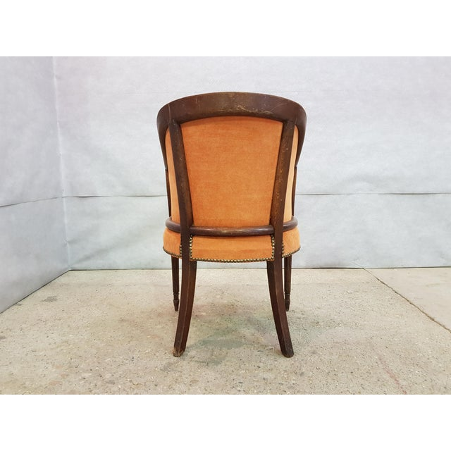 French Antique 19th Century Louis XVI Style Barrel Back Oak Bergère Neoclassical Armchair For Sale - Image 10 of 13