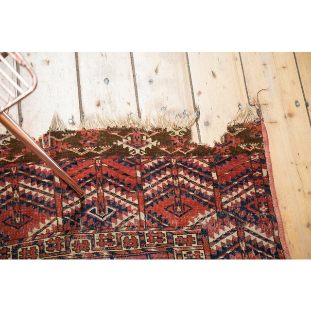 """Antique Turkmen Square Rug - 3'5"""" X 3'9"""" - Image 6 of 10"""
