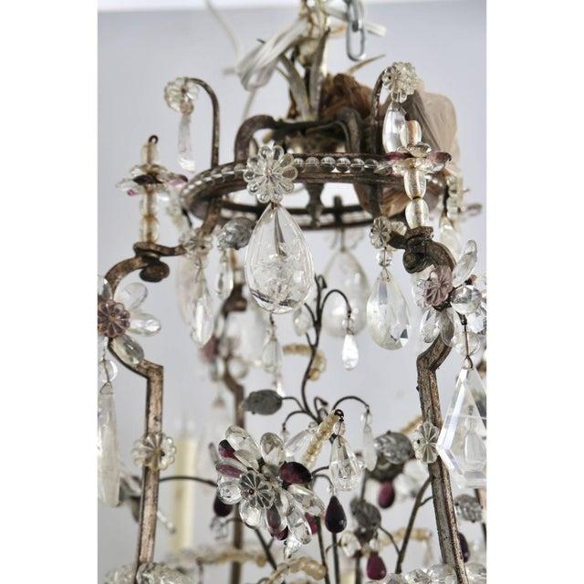 Maison Baguès Louis XV Rock Crystal Chandelier by Maison Baguès Lighting in Paris For Sale - Image 4 of 10