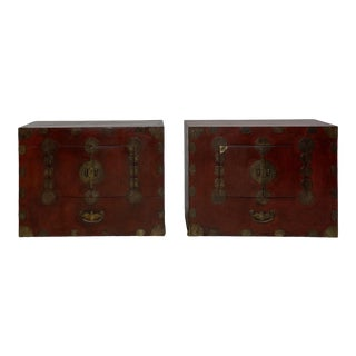 Pair of Tansu, Korea Circa 1890 For Sale